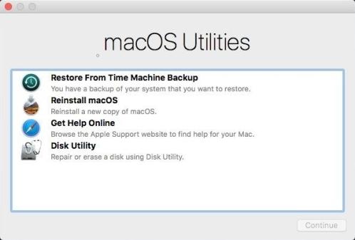 macOS Utilities - macOS Recovery